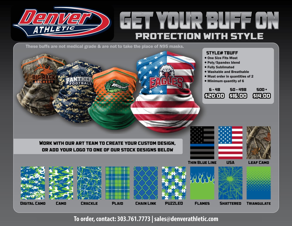 Fully Custom Face Cover Gaiter Buff
