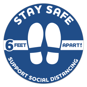 Social Distancing Floor Sticker Decal