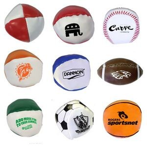 "Special Pricing !... 2"" Sports Squeezable Stress Reliever Balls"